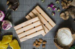 Деревянная мыльница ручной работы