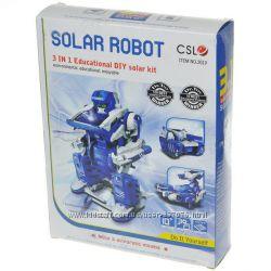 Конструктор на солнечной батарее Robot Solar 3in1