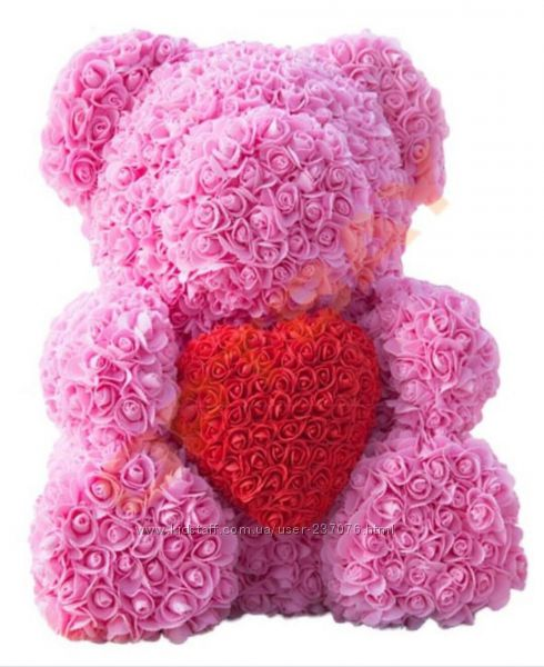 Мишка из искусственный роз с сердечком Teddy Love 40 см