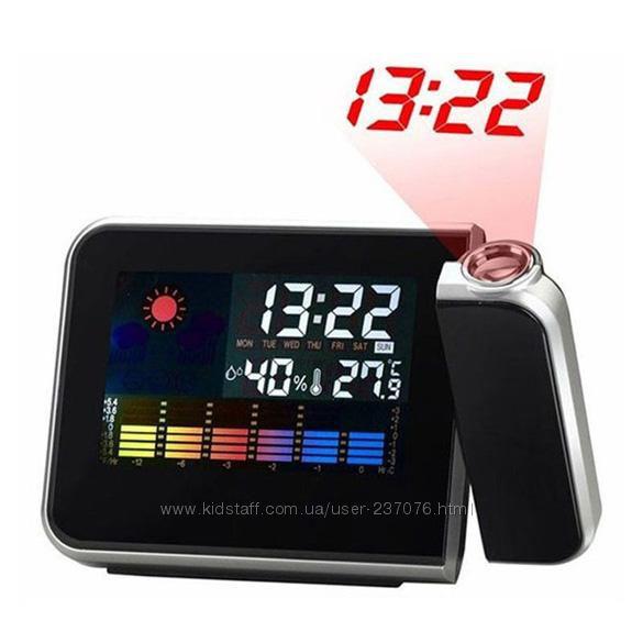 Настольные часы метеостанция Color Screen Calendar 8190