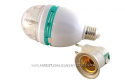 Цветомузикальная лампочка для дискотеки LED Mini Party Light