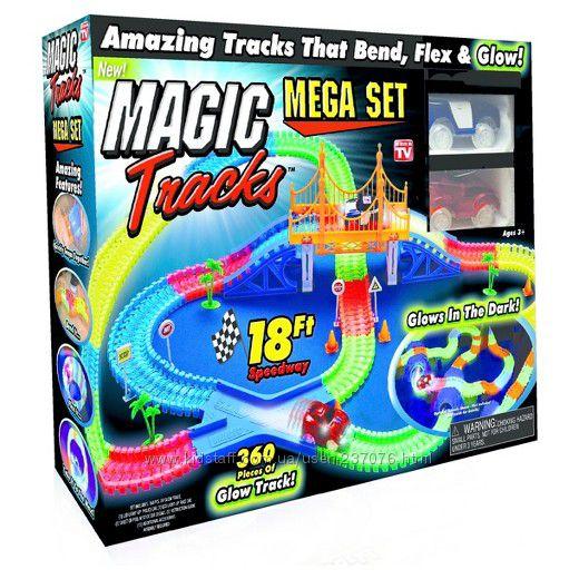 Дорога для автомобилей Magic Tracks Mega Set 360 деталей  2 машинки