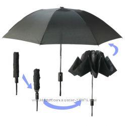 Автоматический черный зонт Наоборот