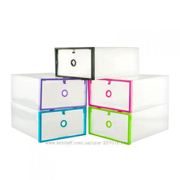 Складная пластиковая коробка для обуви Clear Box&nbsp