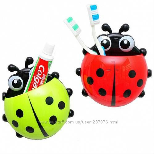 Детская подставка для зубных щеток Божья Коровка