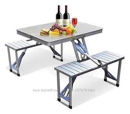 Раскладной стол чемодан Aluminum Picnic Table