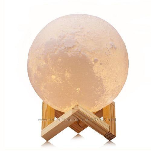 3D ночник для спальни 3D Moon Lamp
