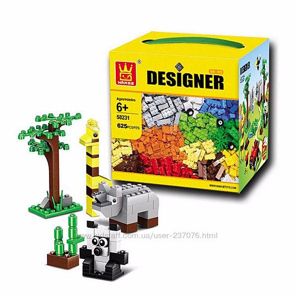Блочный конструктор Wange Designer 625 деталей