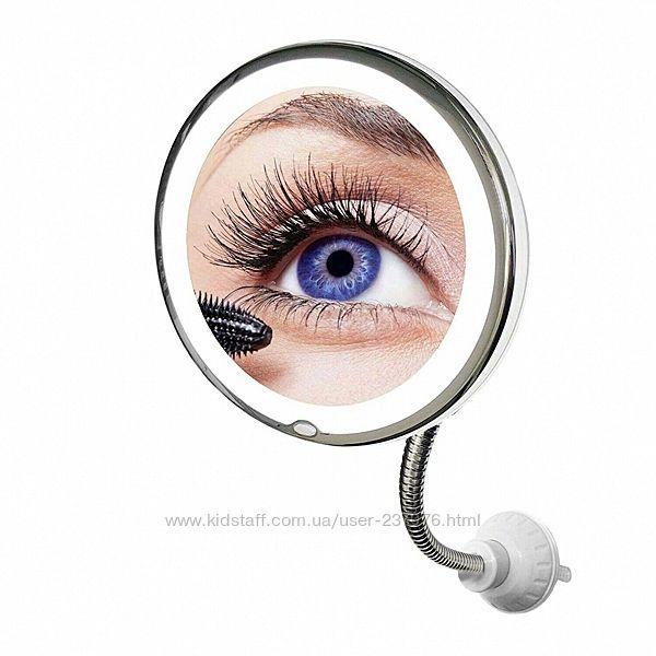 Зеркало с подсветкой на присоске Flexible Mirror