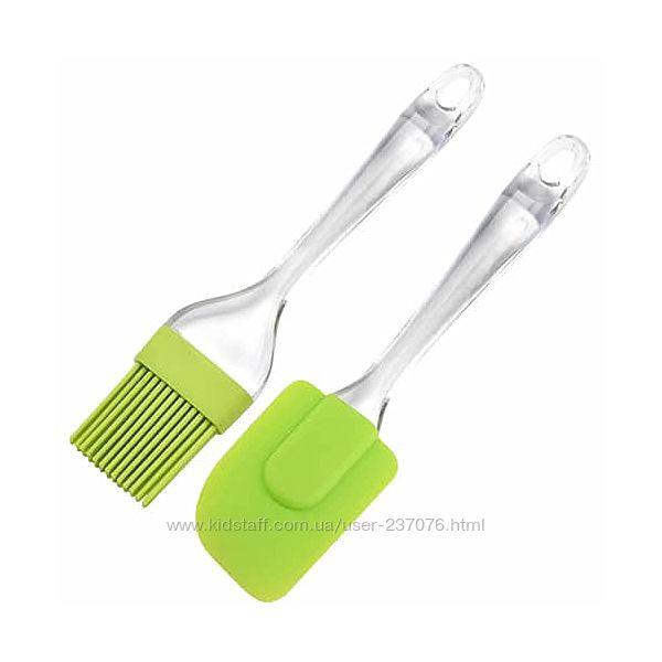 Силиконовая лопатка с кисточкой Silicone Spatula  Silicone Brush