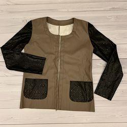 Куртка экокожа жакет р S-M женский