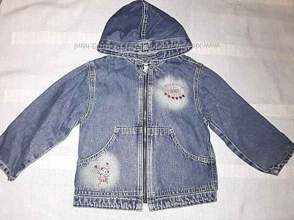 Куртка джинсовая Глория Джинс на девочку 3-4 года, Gloria Jeans ветровка.