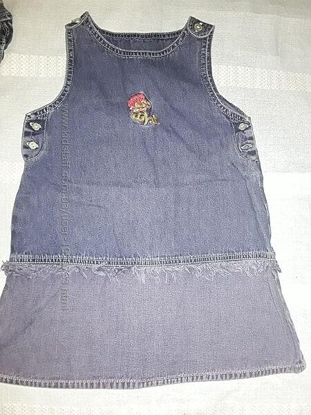 Джинсовый сарафан Palomino на 4-6 лет, классный сарафанчик для девочки.