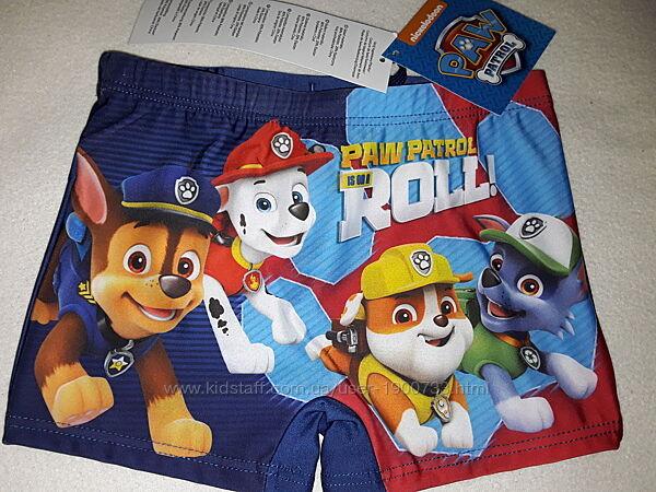 Плавки шорты Nickelodeon Щенячий патруль для мальчика 3-9 лет, со шнурочком