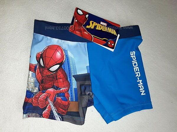 Плавки шорты Человек Паук на мальчика 2-7 лет, удобные плавочки для пляжа.