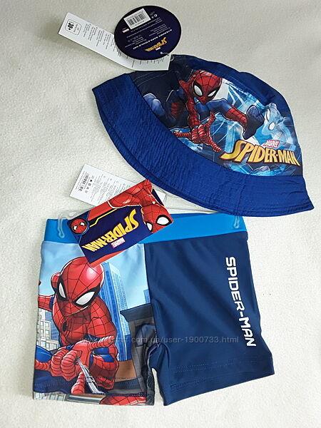 Пляжный набор для мальчика 2-6 лет плавки и панамка Спайдермен, Spiderman.