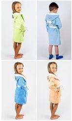 Lotus Халат детский с капюшоном и вышивкой Зайка 3-4, 6-8, 8-10, 10-12