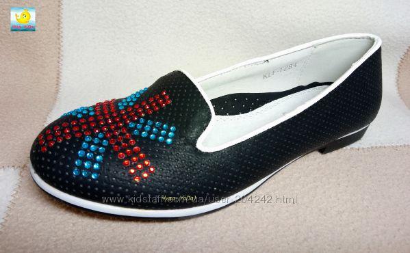 Стильные туфли девочкам, р. 33, 34, 37
