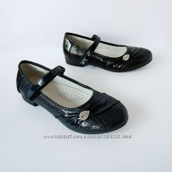 Классические школьные туфли девочкам, р. 32-37