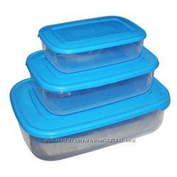Наборы пластиковых контейнеров для продуктов