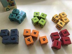Деревянные кубики Elc