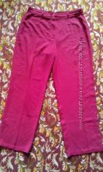Летние красные брюки на пышную красотку, размер 54