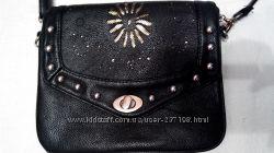 Небольшая черная сумочка, кросс-боди