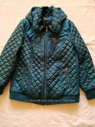 Женская стеганная демисезонная куртка Elegance, р-р 54-56