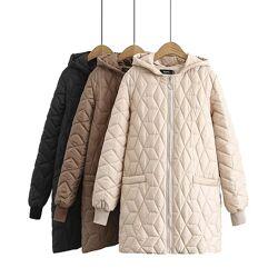 Стеганое демисезонное пальто, куртка QQYL, р-р 56-58