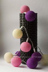 Гирлянда из тайских хлопковых фонариков 35шт Purple