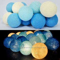 Тайские гирлянды из хлопковых шариков на 20 шт