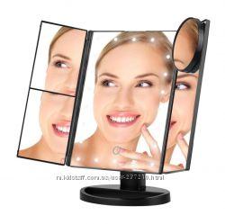Большое светодиодное LED зеркало с подсветкой для макияжа в наличии