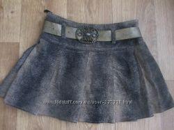 Вельветовая плиссированная юбочка