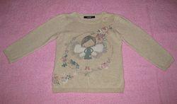 Хлопковый свитер George для девочки на 3-4 года рост 98-104 см