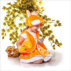 Карнавальный костюм Лисички для девочки 3-6 лет 104-122 см Прокат