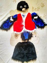 Карнавальный костюм снегиря 3-6 лет прокат