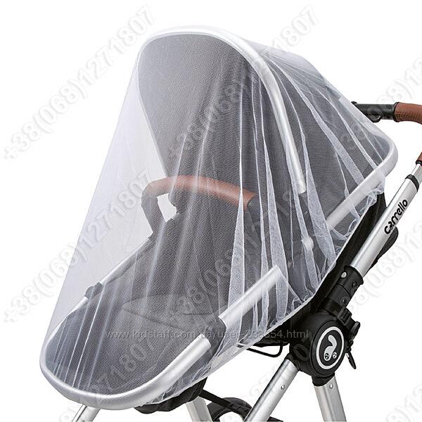 Москитная универсальная сетка на люльку, прогулочную коляску, трость