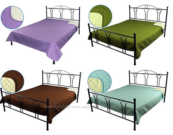 Покрывала стеганые на кровать, диван двусторонние микрофибра