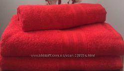 Полотенца махровые однотонные Пакистан, все цвета и размеры, плотность 420
