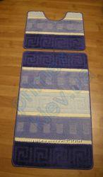 Комплект ковриков для ванной комнаты текстильный 100х60см. 50х60см.