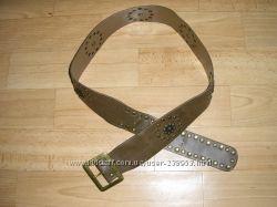 Ремень, пояс с заклепками  длина 105, 5 см