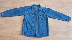 Рубашка джинсовая на 7-9 лет, рост 134-140 см