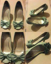 Туфли босоножки мятного цвета