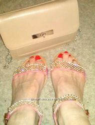 босоножки сандали без каблука камни копия Steve Madden