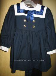 Классическое теплое платье на 2-3 года
