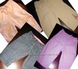 Брендовые льняные капри, бриджи, джинсы моднице 2 - 4х лет