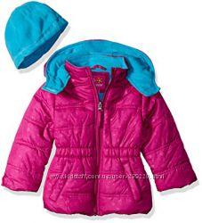 Новая зимняя куртка с шапкой Pink platinum USA