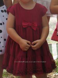 Нарядное платье F&F для маленькой принцессы на 1. 5-2, 5г