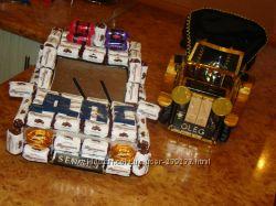 Автомобили из конфет.