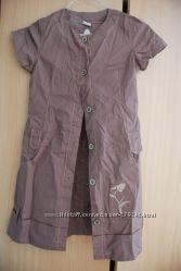 Летнее платье-халат 134см